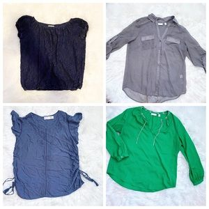Tops - Women's Lot of 4 Blouses Size Large